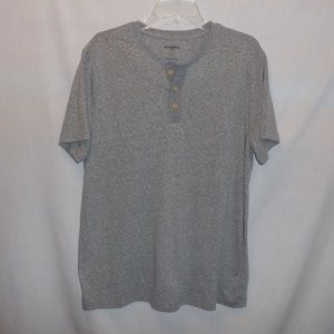 Goodfellow 1/4 Button Down Henley Style Top Tee
